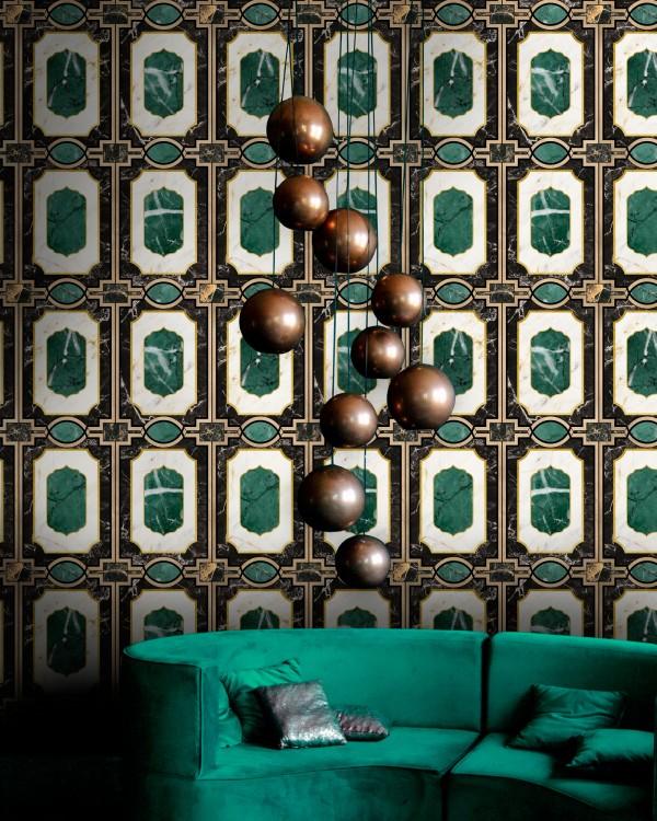 WALDORF Emerald Wallpaper