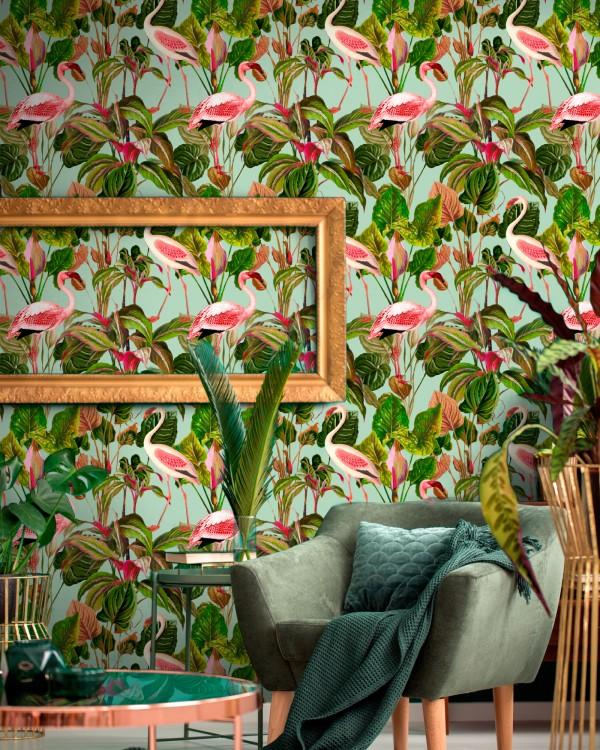 BEVERLY HILLS Mint Wallpaper