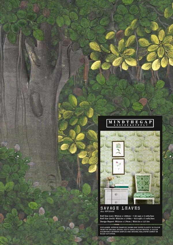 SAVAGE LEAVES Wallpaper Sample