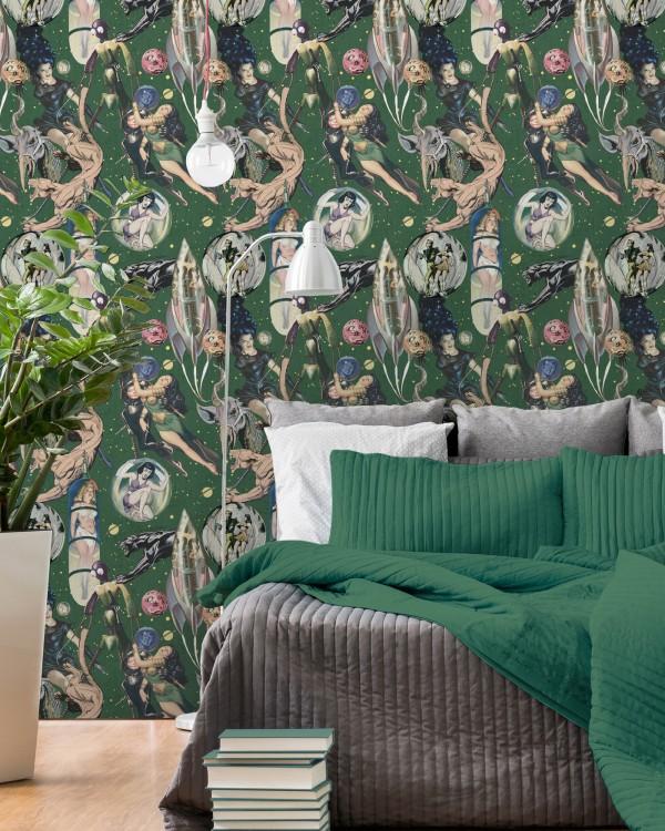 SCI-FI COMICS Premium Wallpaper