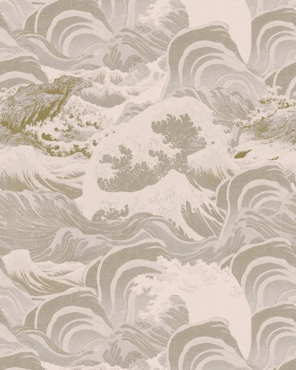 SEA WAVES Neutral Wallpaper