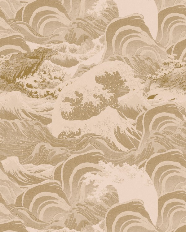 SEA WAVES Taupe Wallpaper