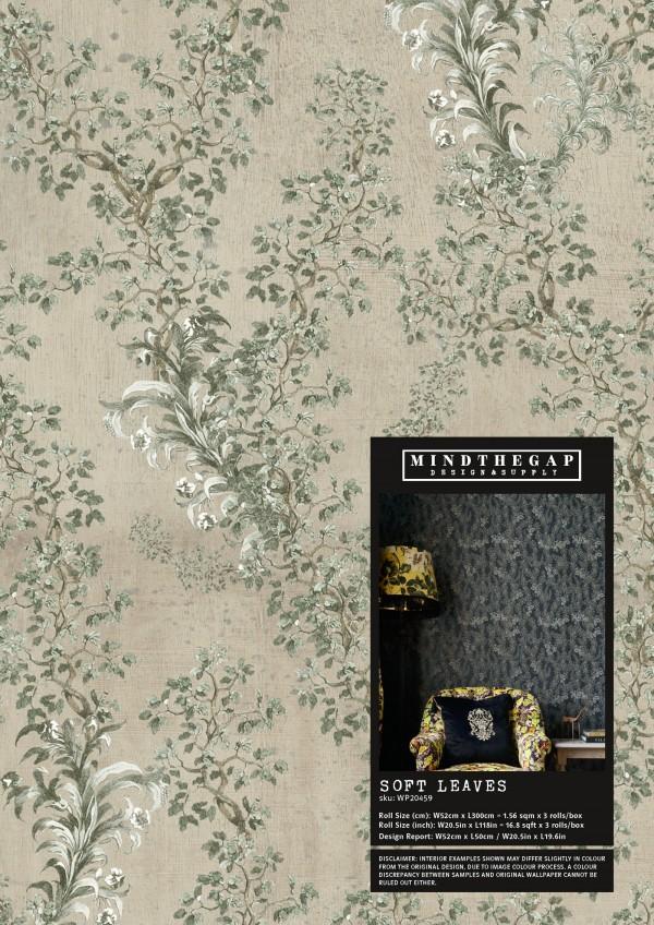 SOFT LEAVES Wallpaper Sample