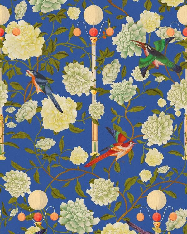 THE GARDEN OF IMMORTALITY Lapis Blue Wallpaper