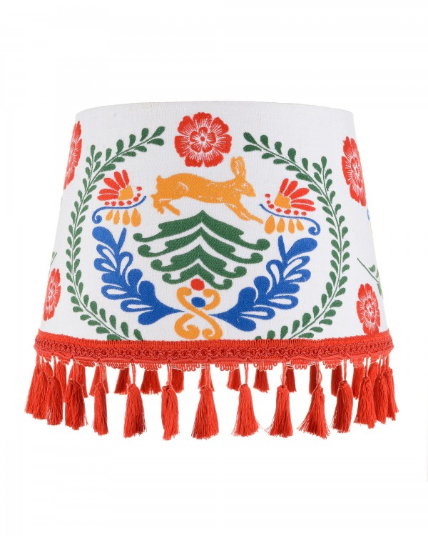 THE HARE Embroidered Lampshade