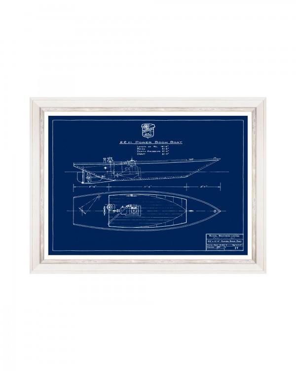 TUGBOATS BLUE PRINTS II Framed Art
