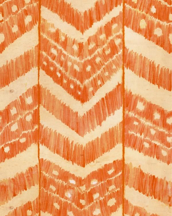 TURKISH IKAT Tangerine Wallpaper