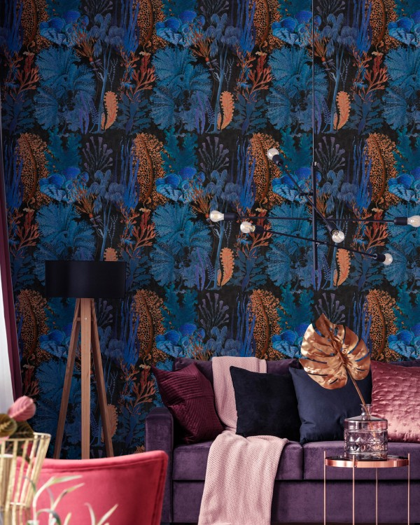 CORAL REEF Ultramarine Wallpaper