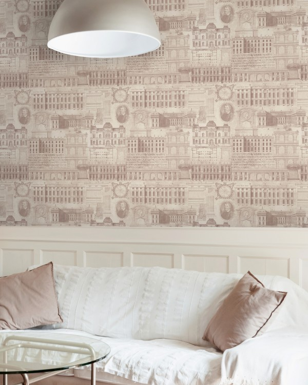 VITRUVIUS Taupe Premium Wallpaper