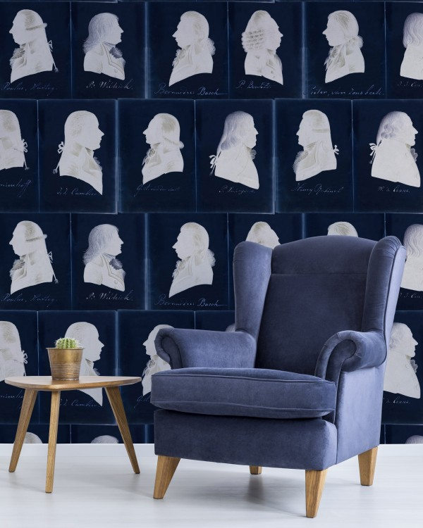 DUTCH PORTRAITS Blue Wallpaper