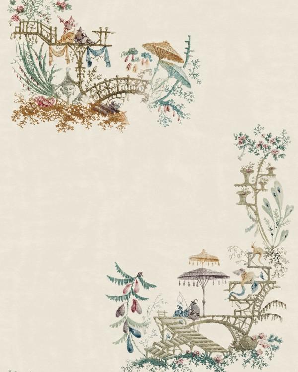 CHINOISERIE Coconut Wallpaper