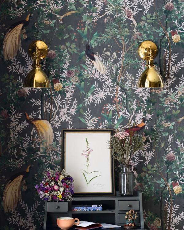 ROYAL GARDEN Grey Wallpaper