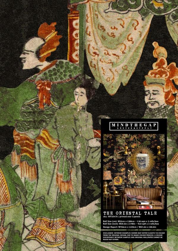 THE ORIENTAL TALE - Wallpaper Sample
