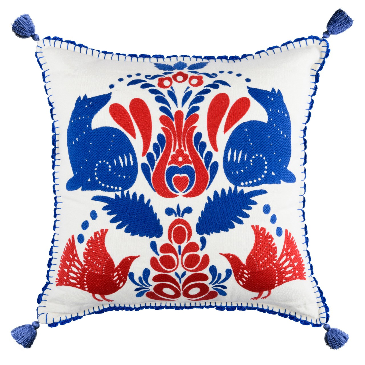 FOLK EMBROIDERY Linen Embroidered Cushion