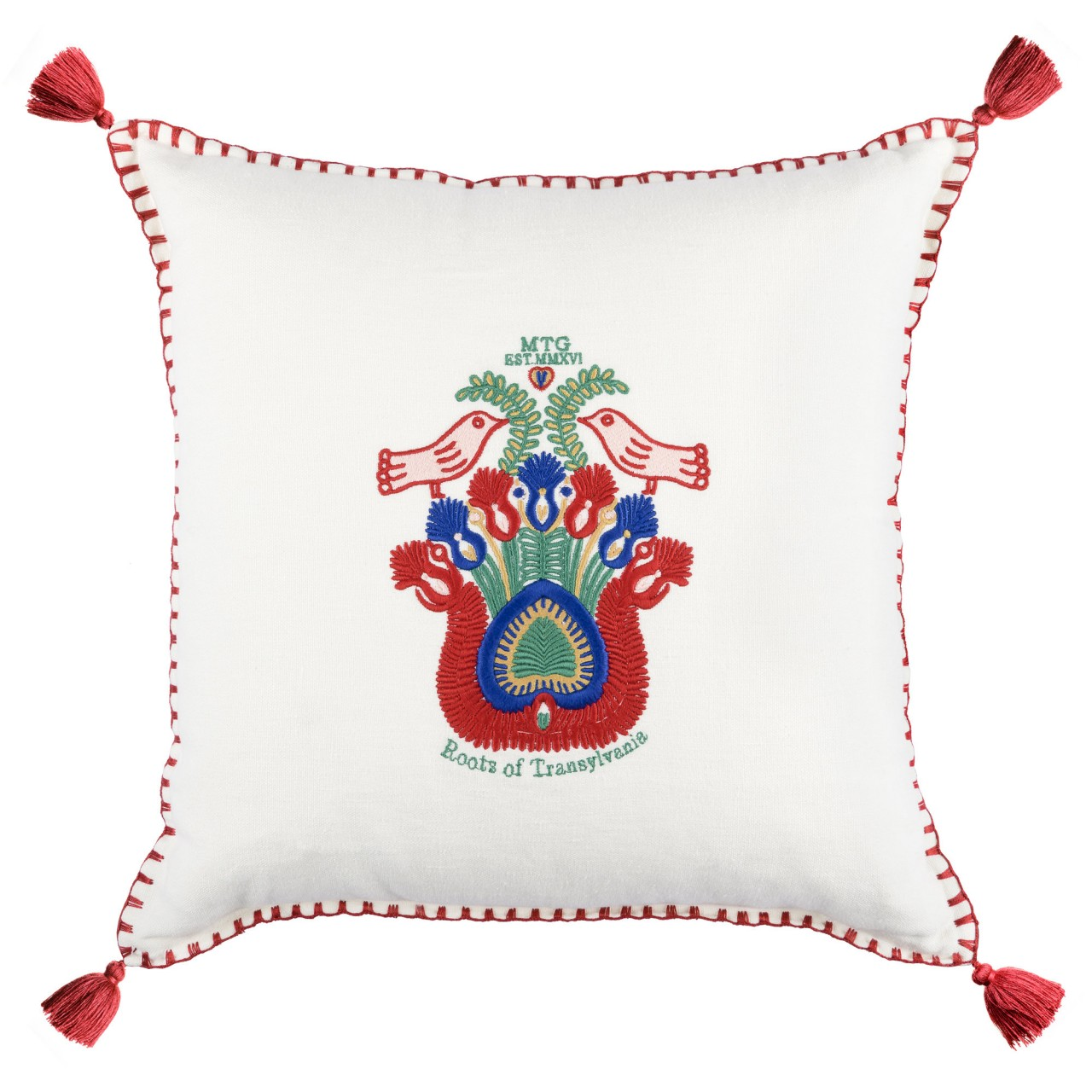 ROOTS OF TRANSYLVANIA Linen Embroidered Cushion