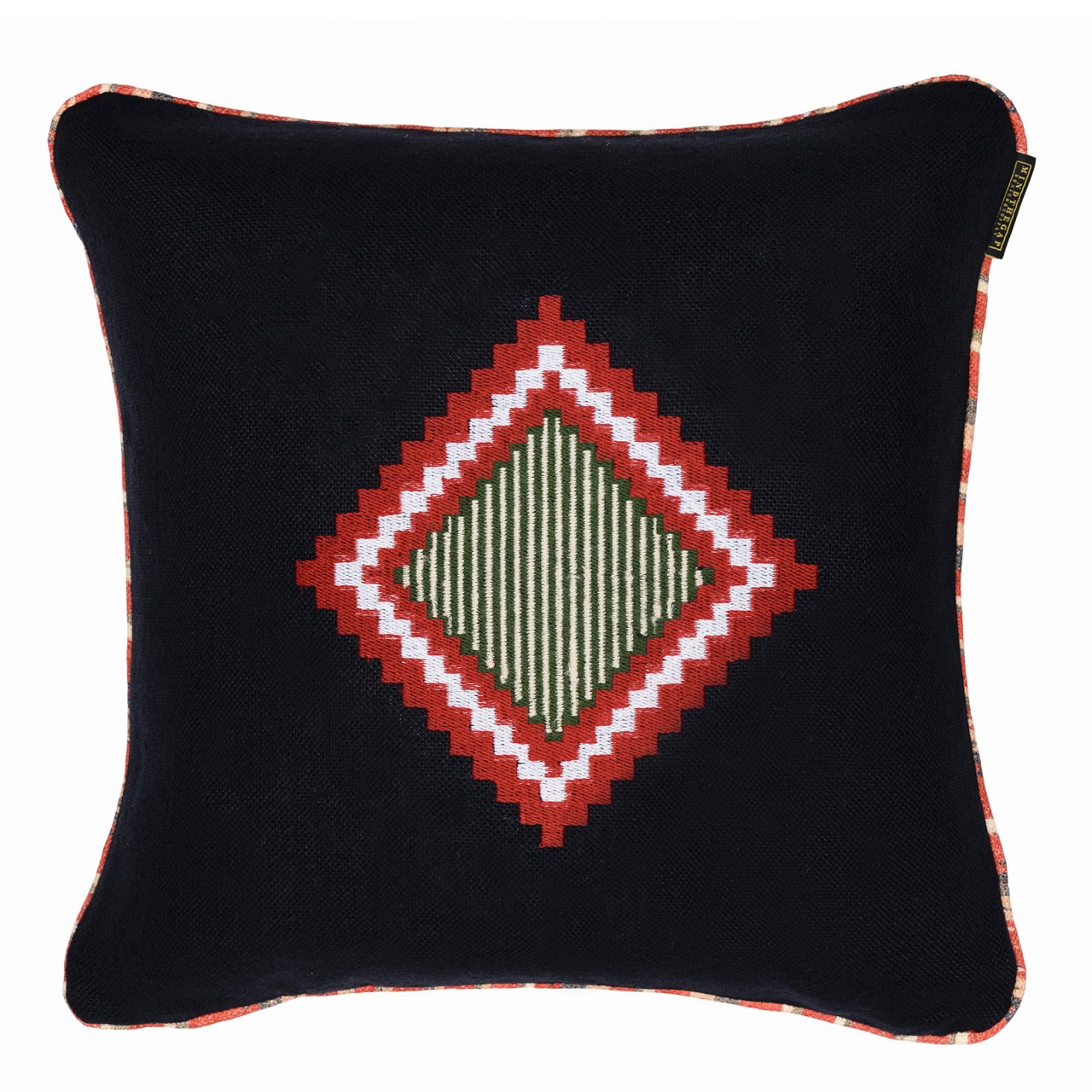 MOKI Linen Embroidered Cushion