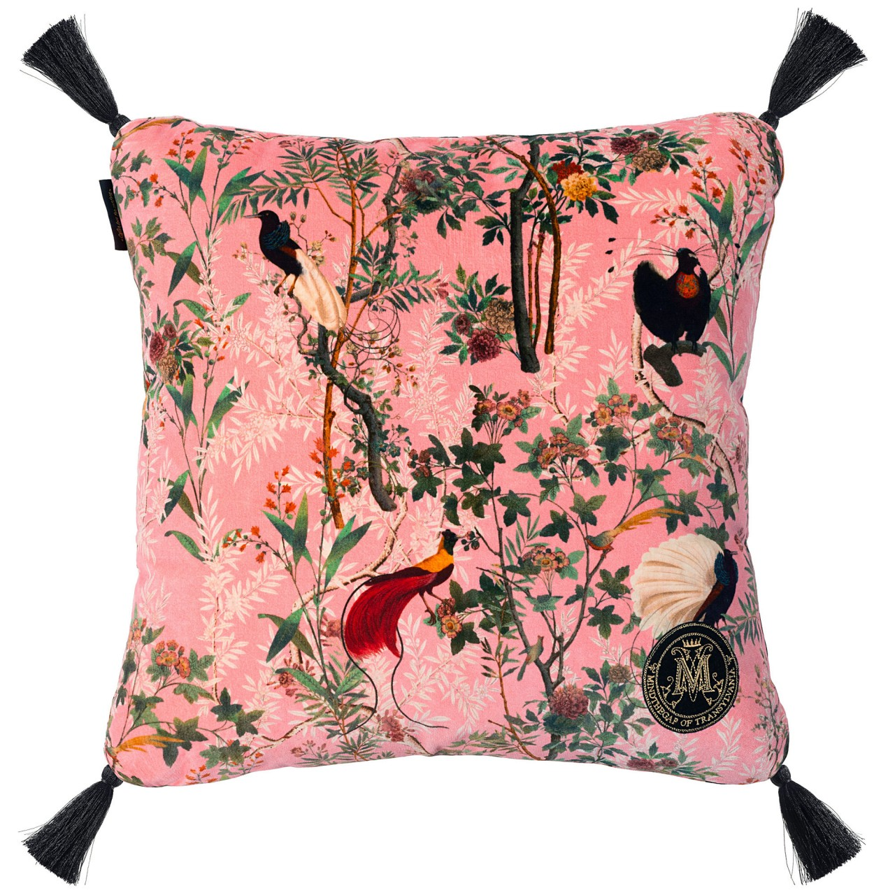 ROYAL GARDEN Pink Velvet Cushion