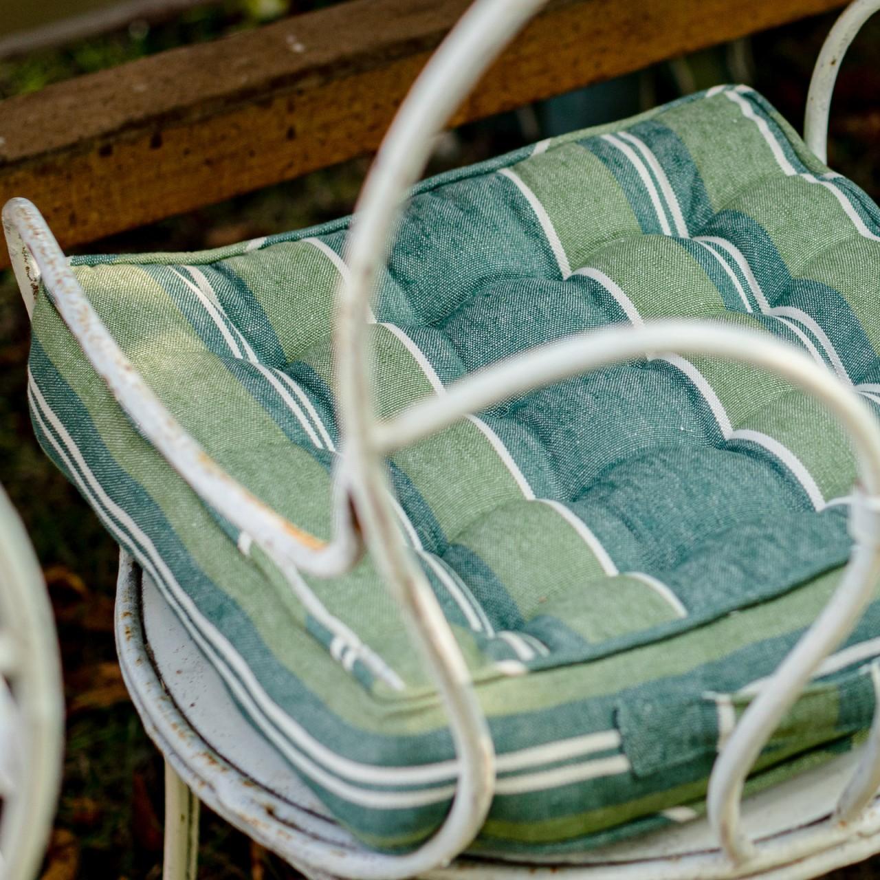 SZEPVIZ STRIPE Linen Chair Cushion
