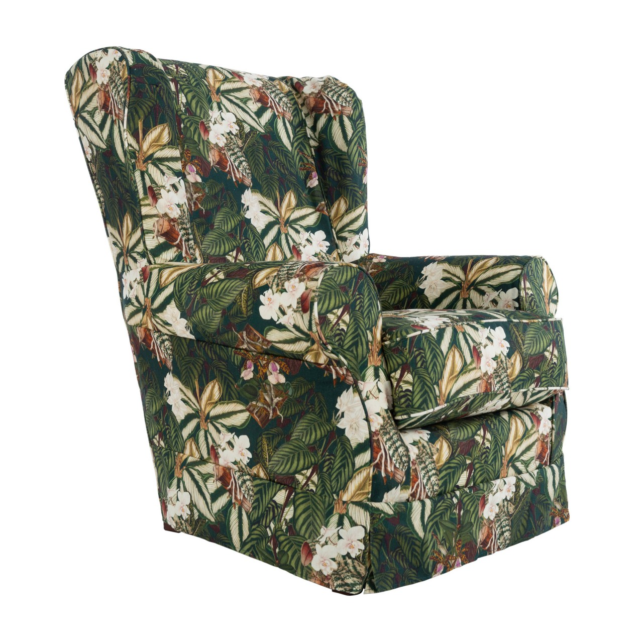 DAKOTA Skirted Chair - ORCHID BLOOM Linen