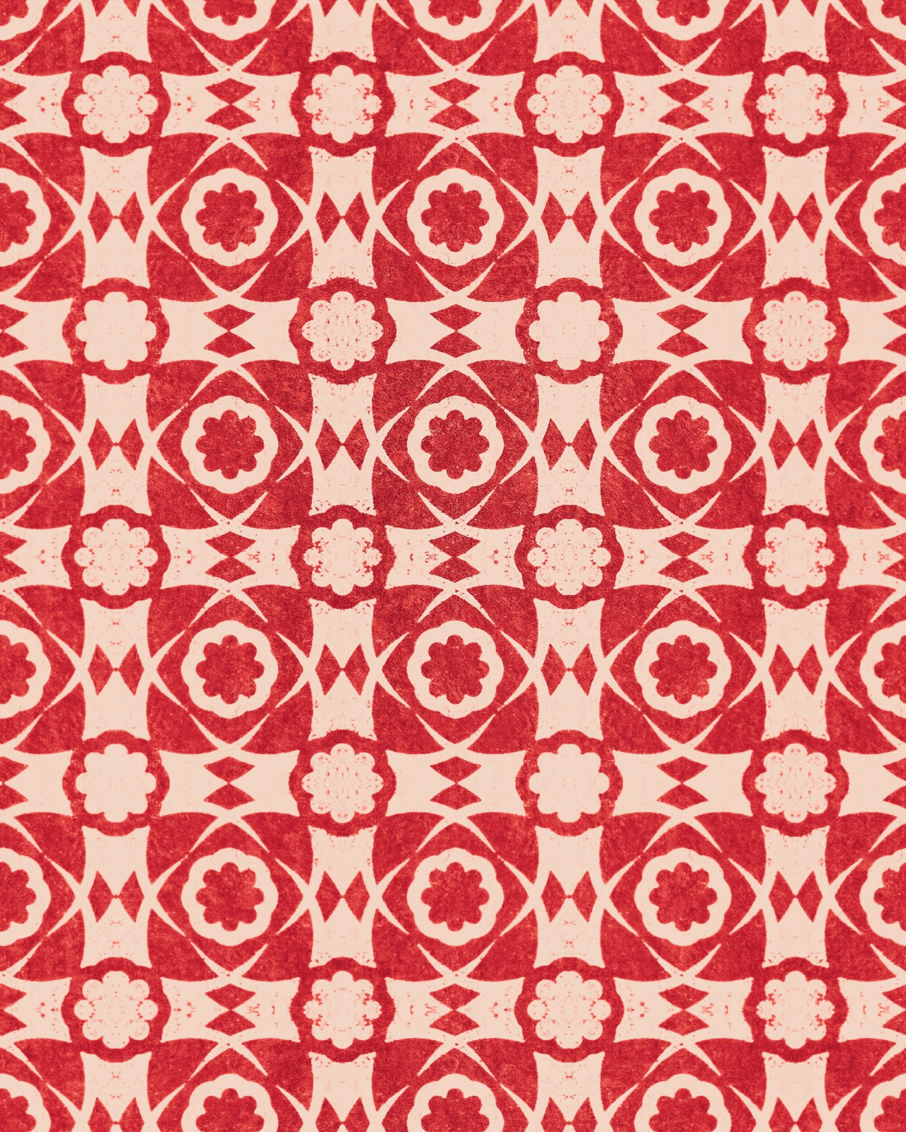 AEGEAN TILES Red Wallpaper