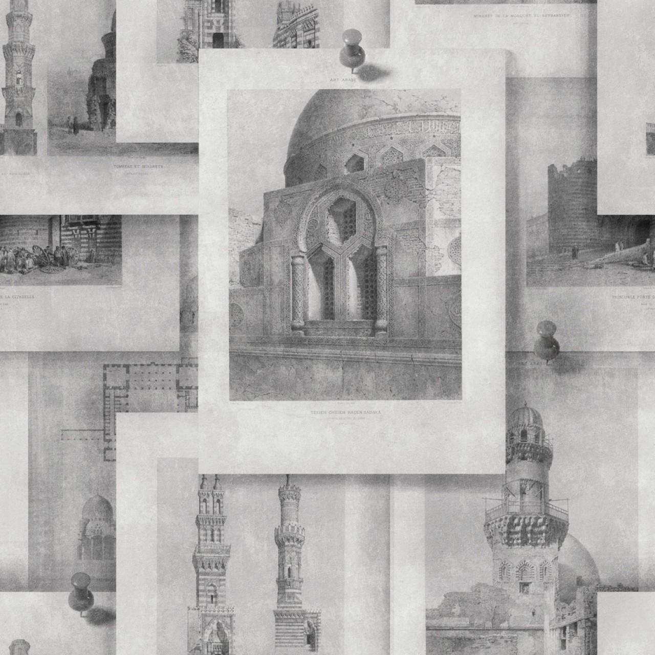 ARABIAN MONUMENTS Neutral Premium Wallpaper