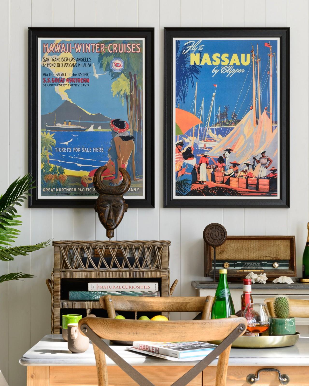 CARIBBEAN TRAVELS - FLY TO NASSAU Framed Art
