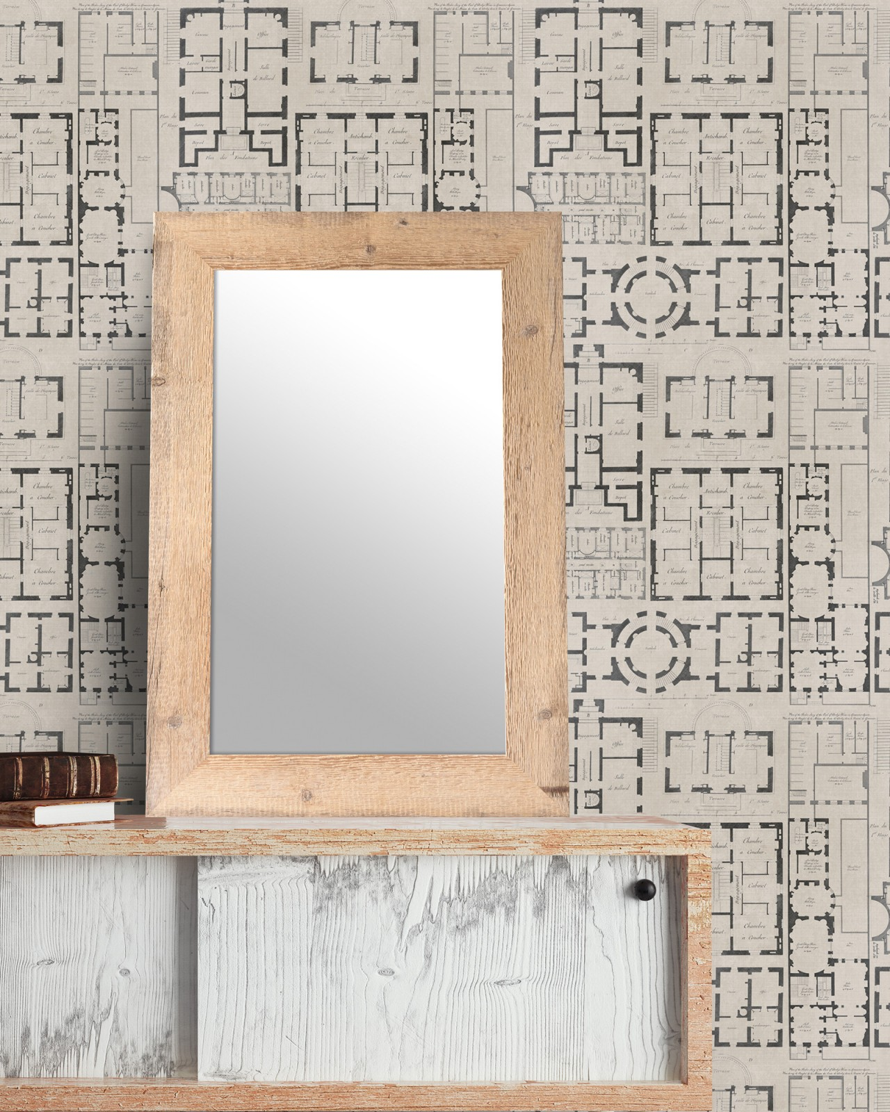 CHATEAU Taupe Premium Wallpaper