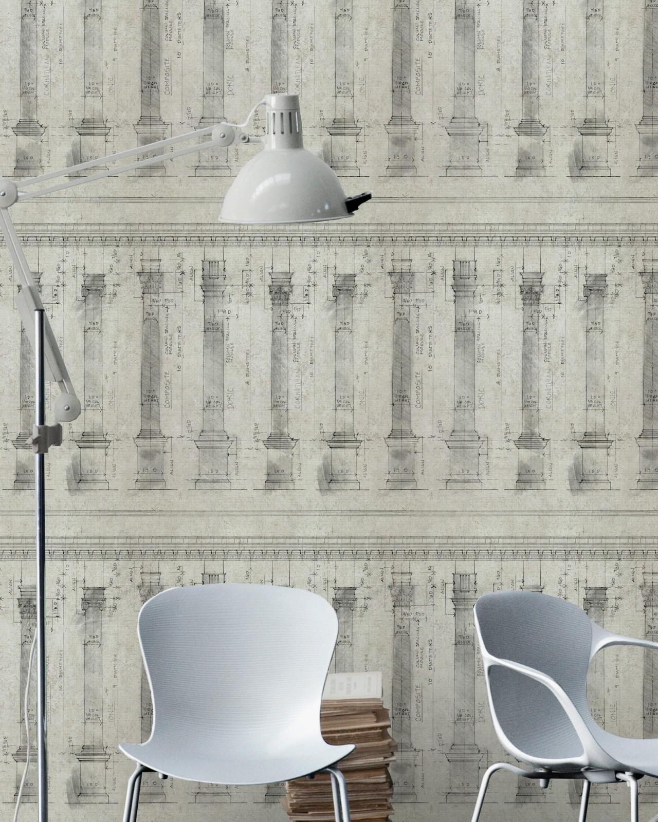COLONNADE Sand Premium Wallpaper