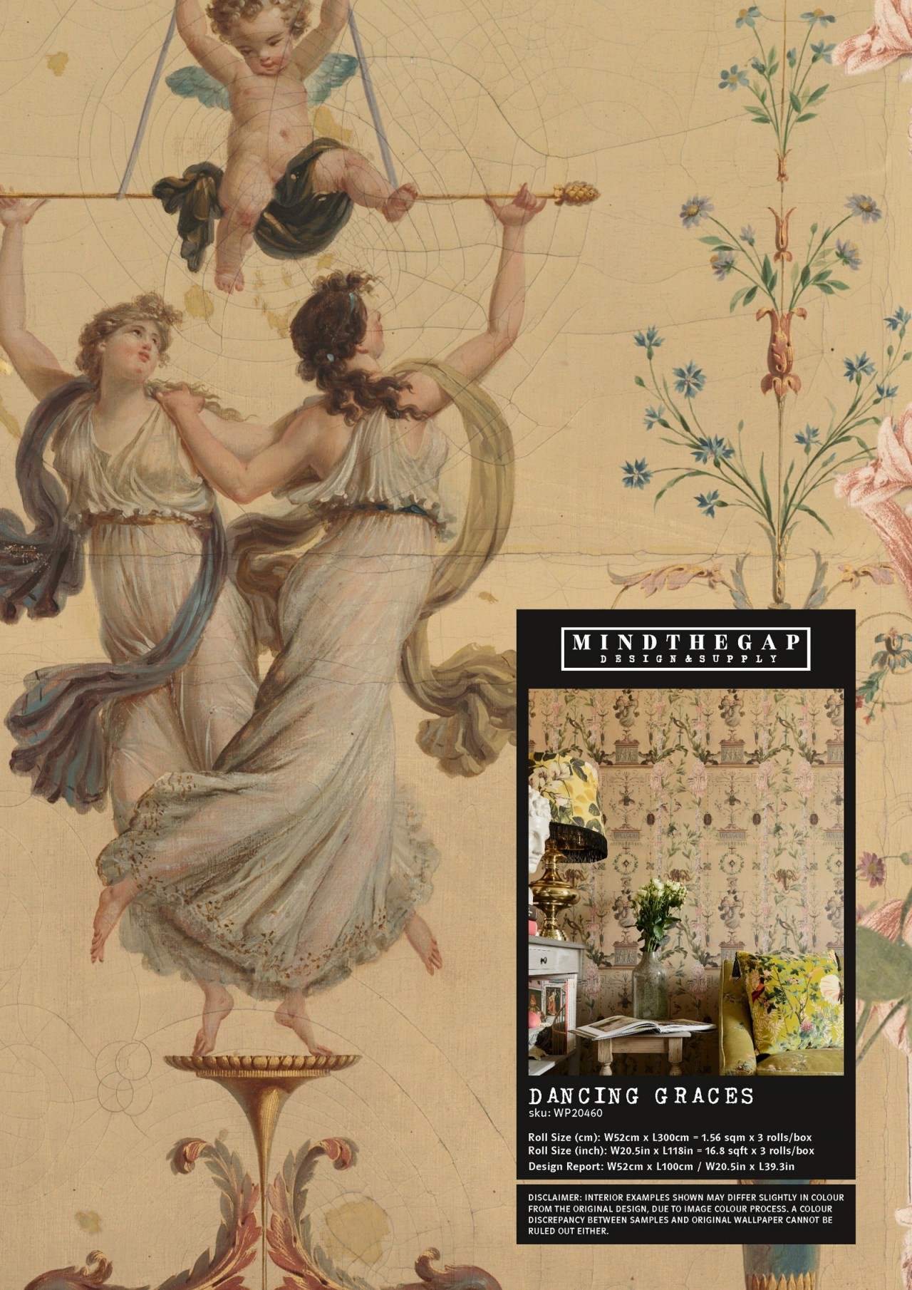 DANCING GRACES Wallpaper Sample