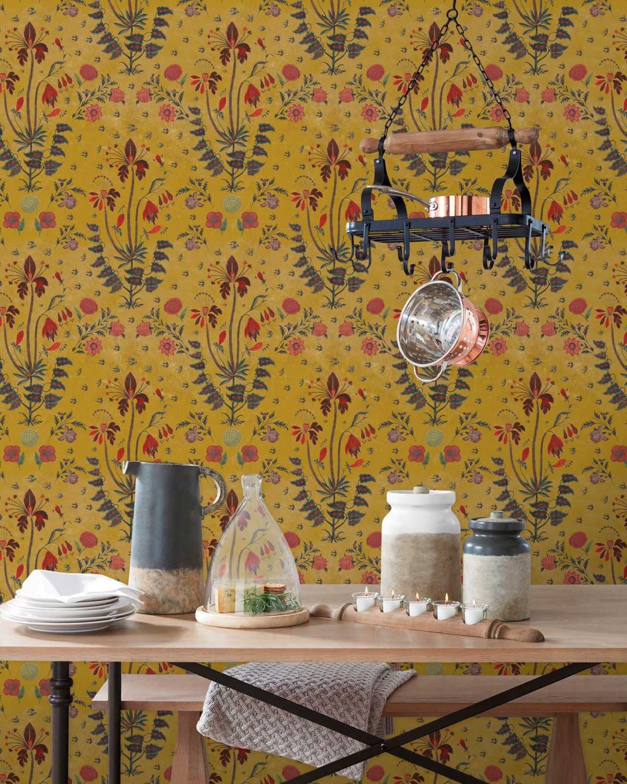 GYPSY Ochre Wallpaper