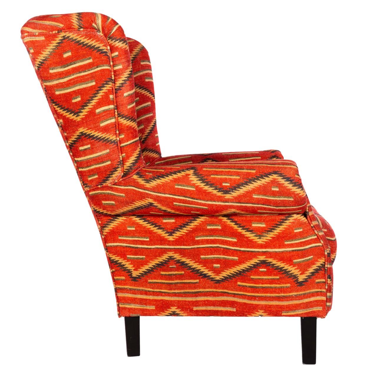 BRYANT Wing Chair - EYEDAZZLER NAVAJO Linen