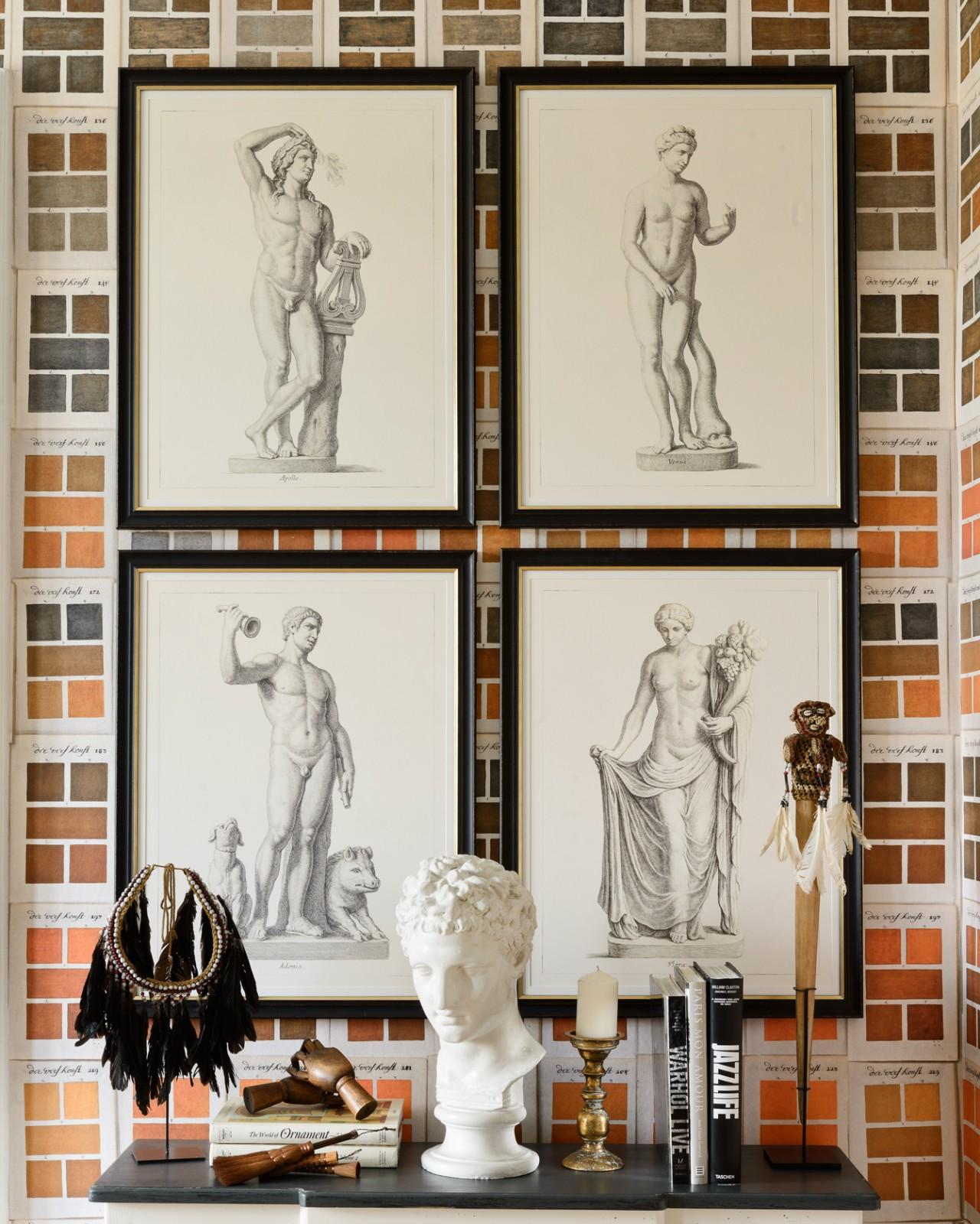 GREEK GODDESS AND GODS - FLORA Framed Art