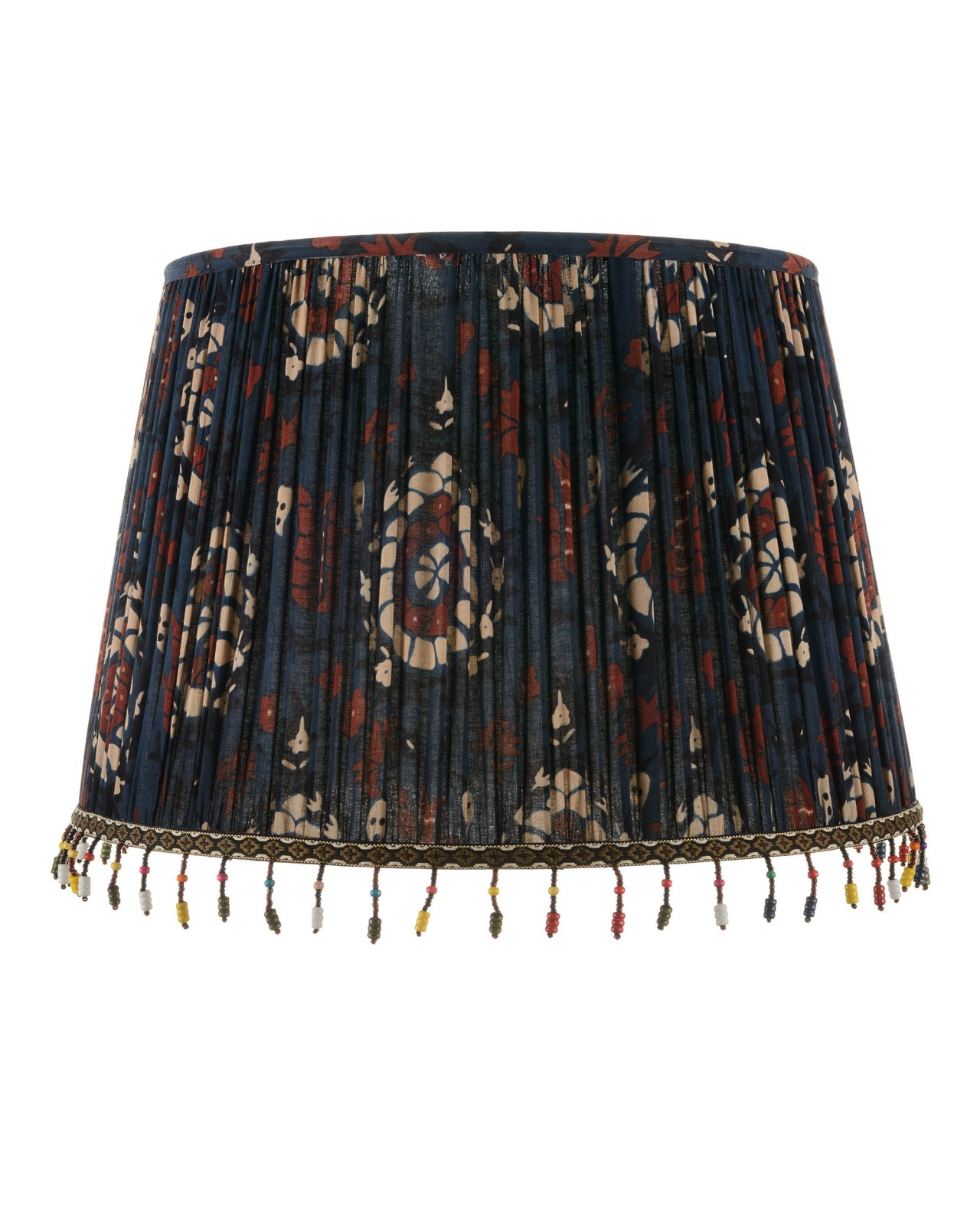 FLOURISH BLUE Pleated Lampshade