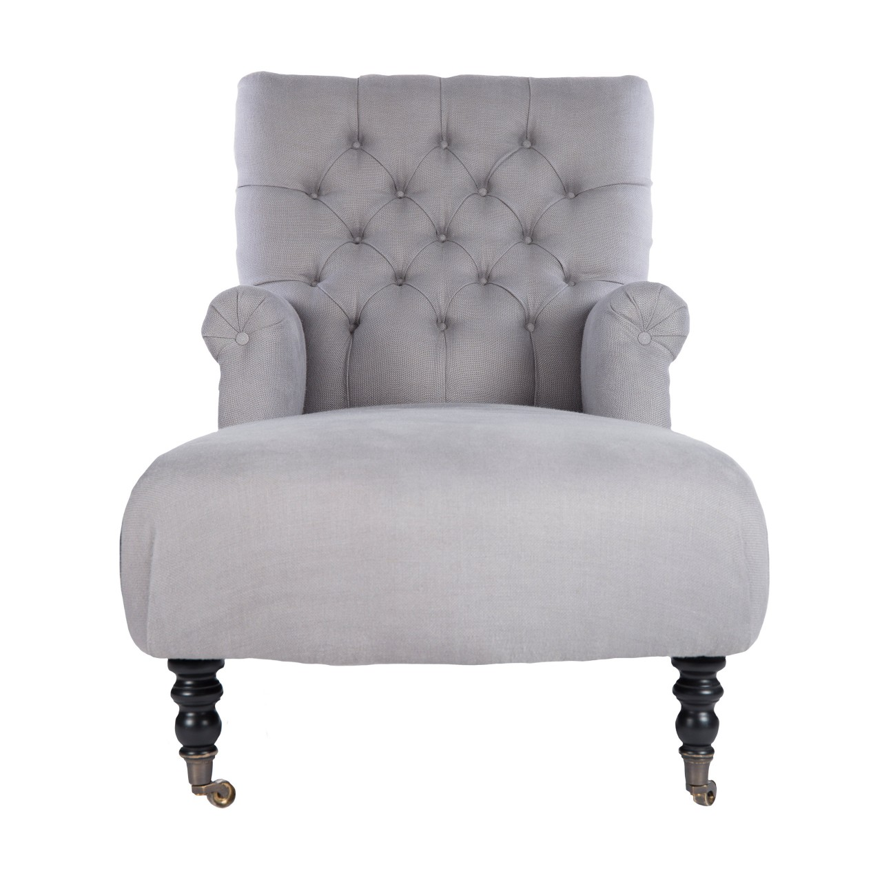 MADISON Chaise - FROST GREY Linen