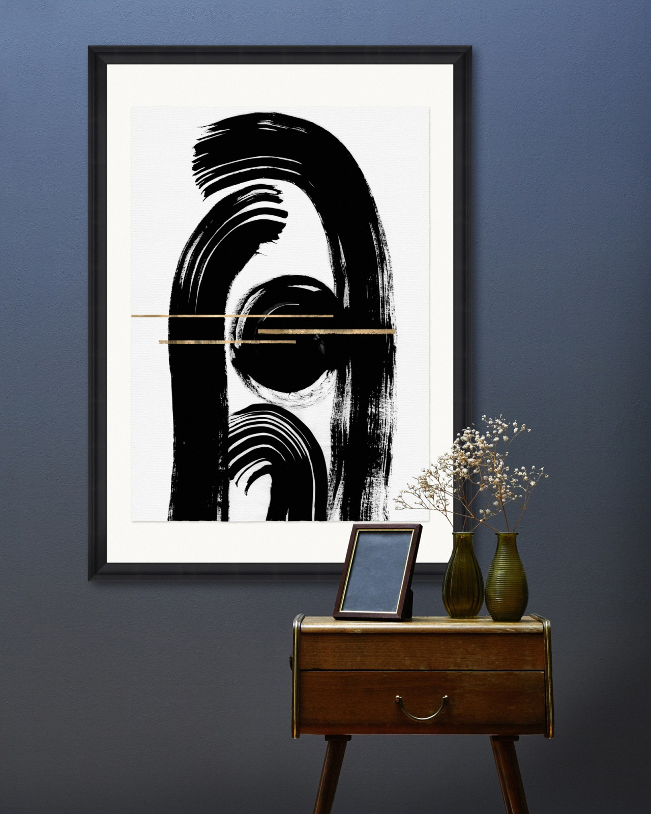 GESTURAL ABSTRACTION II Framed Art