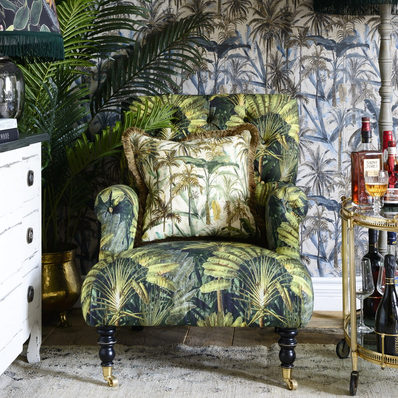 HUDSON Chair - TRAVELLER'S PALM Linen