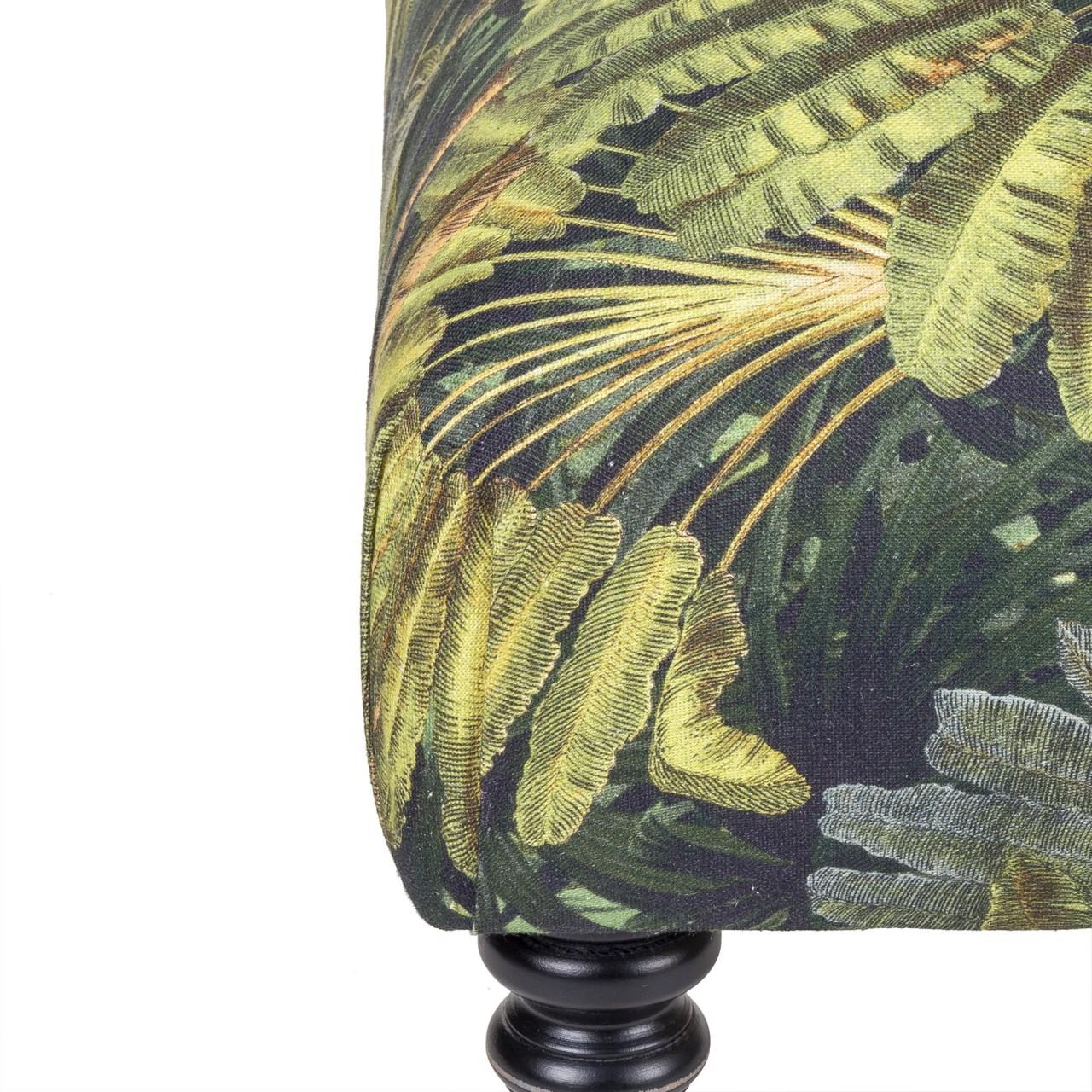 HUDSON Stool - TRAVELLER'S PALM Linen