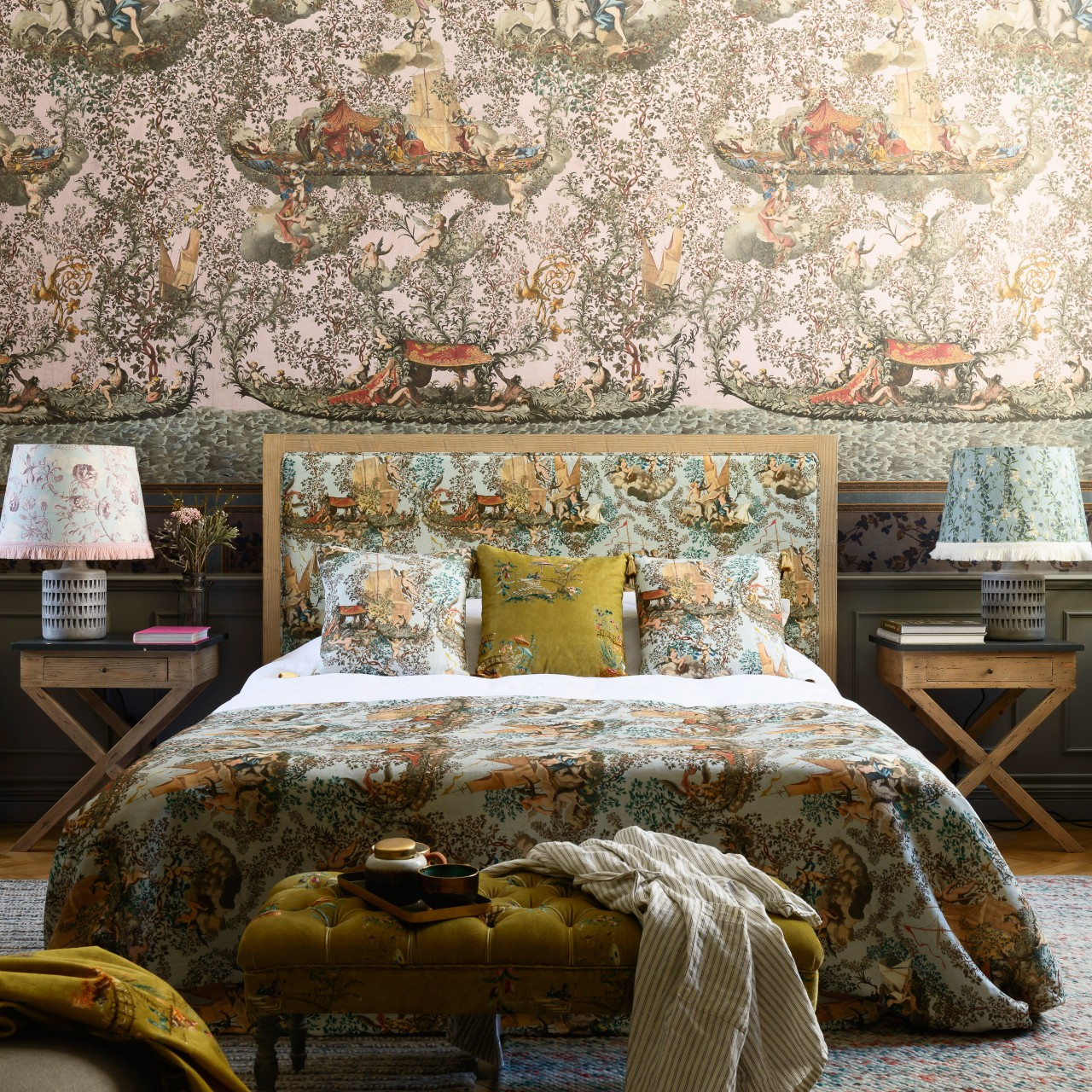 ANTAL Bed - JOURNEY TO EDEN Linen