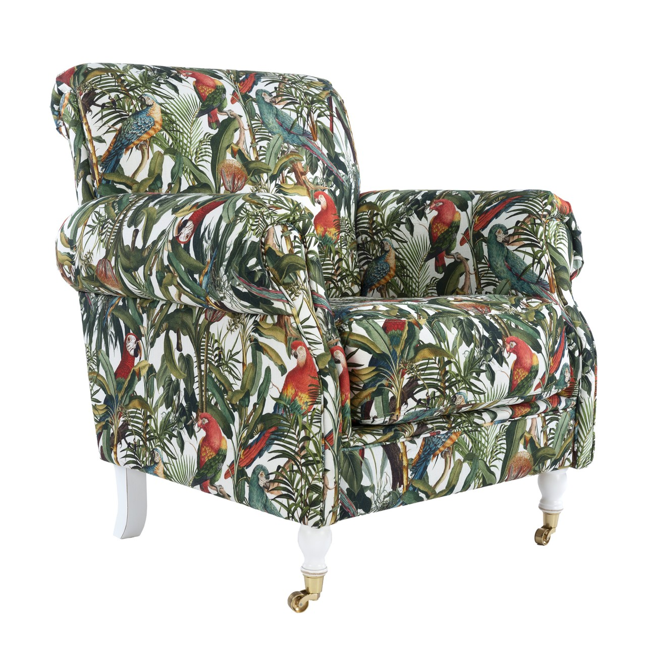 KINGSTON Chair - PARROTS OF BRASIL Linen