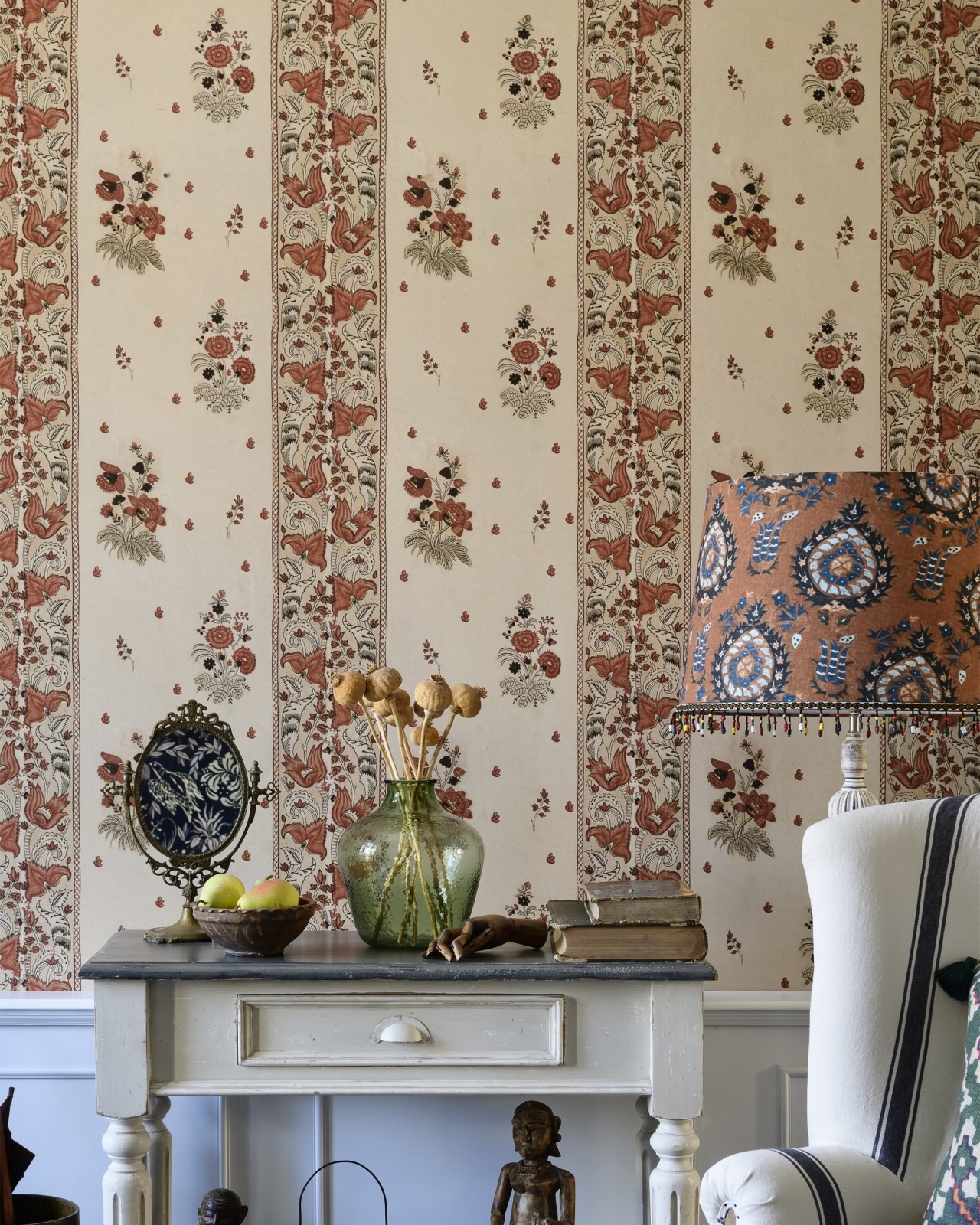 KOROND FLORAL Leather Wallpaper