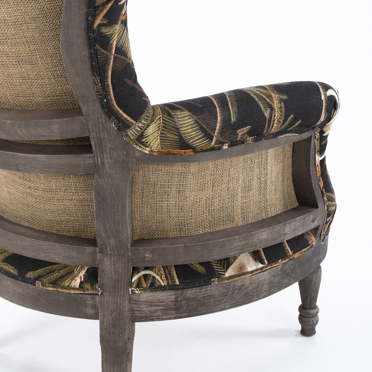 LOUIS Deconstructed Chair - BARBADOS Anthracite Linen