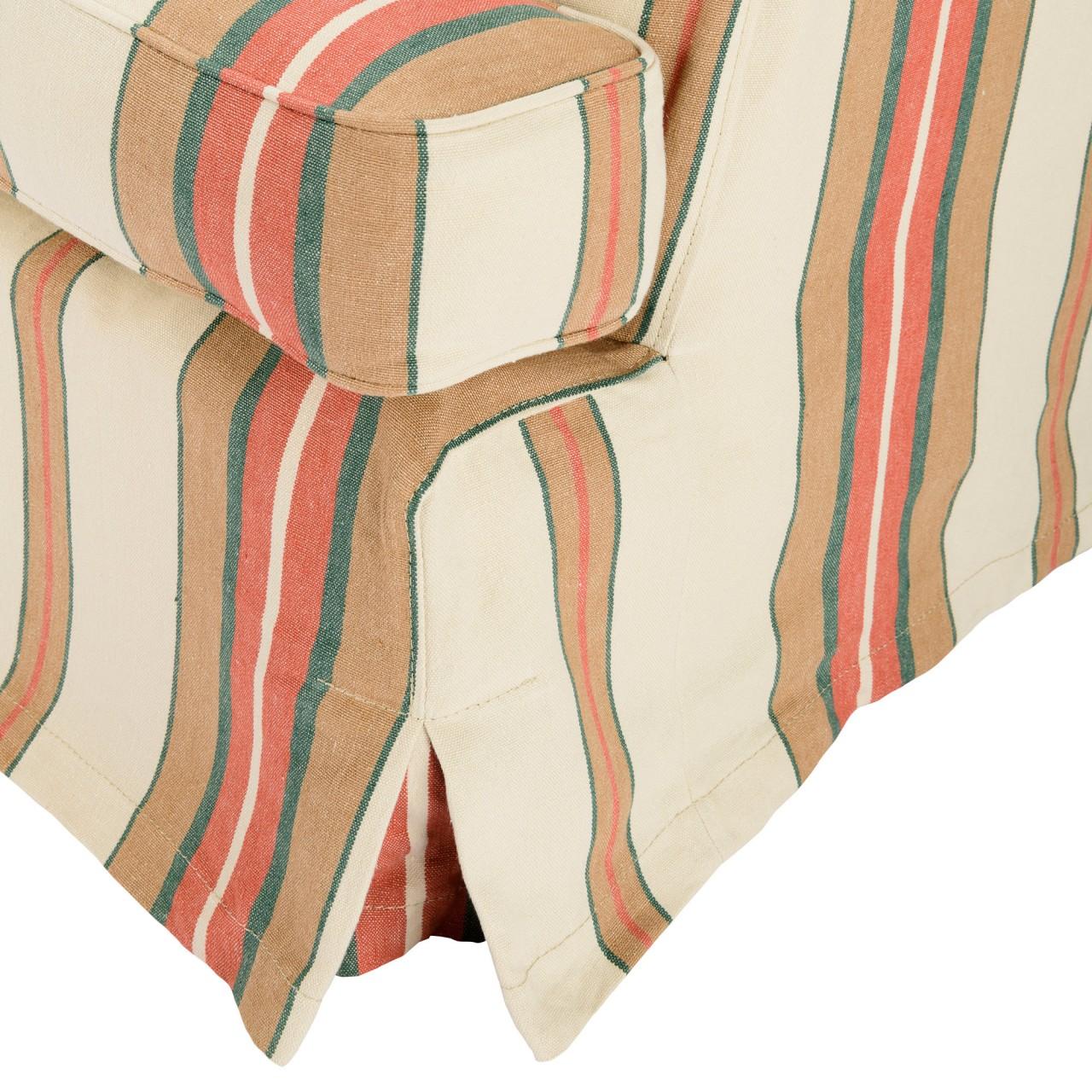 MONTPARNASSE SKIRTED SOFA - HERINA STRIPES Linen