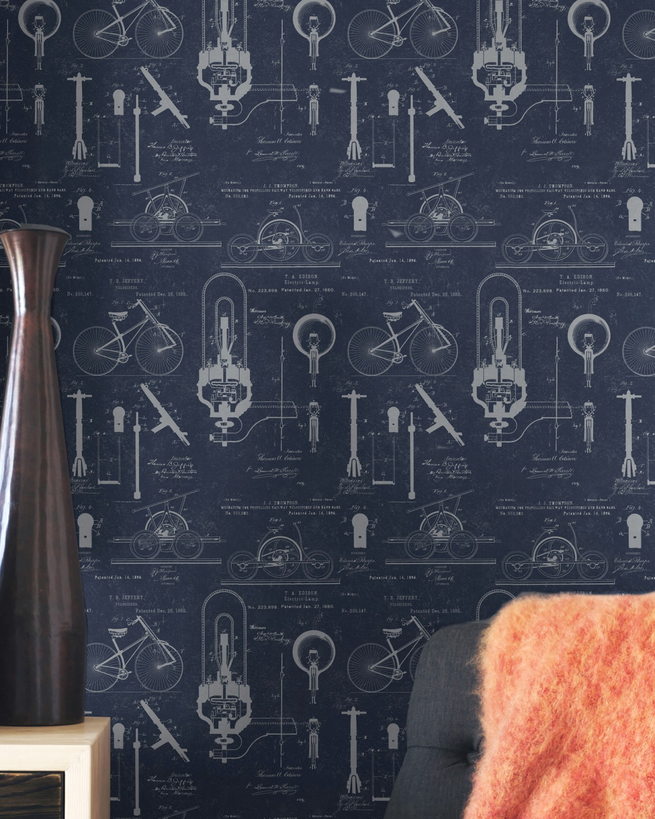 PATENTS Blue Premium Wallpaper