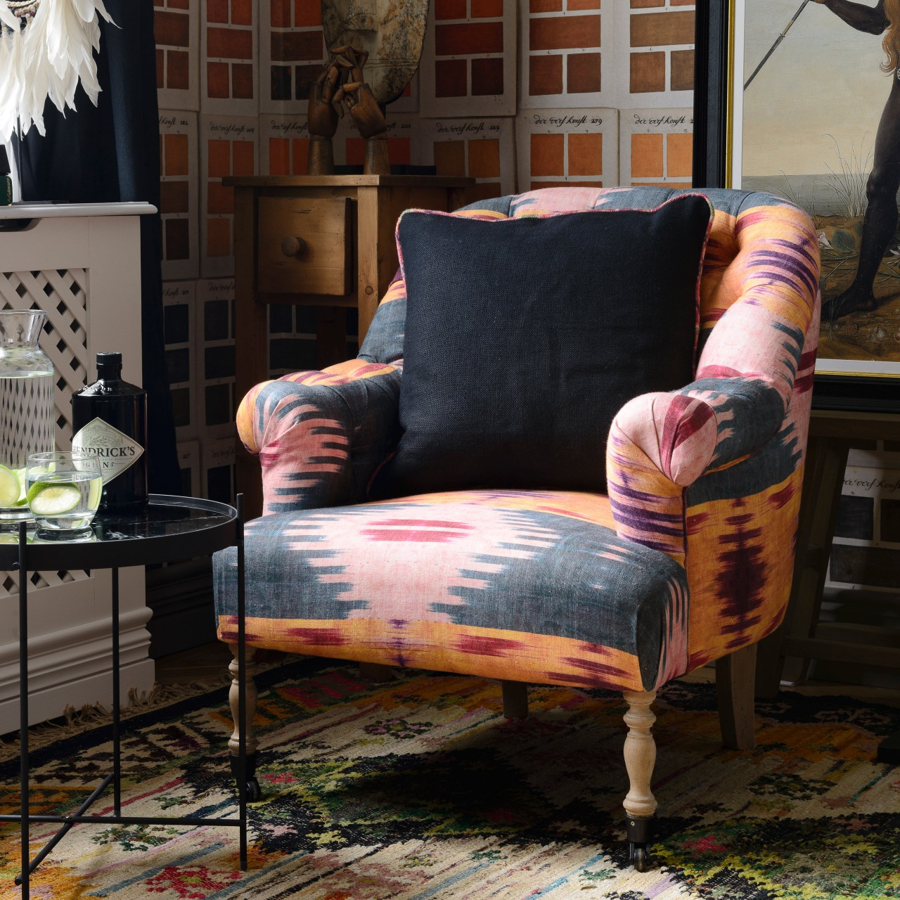 ST GERMAINE Tufted Chair - PATOLA Linen