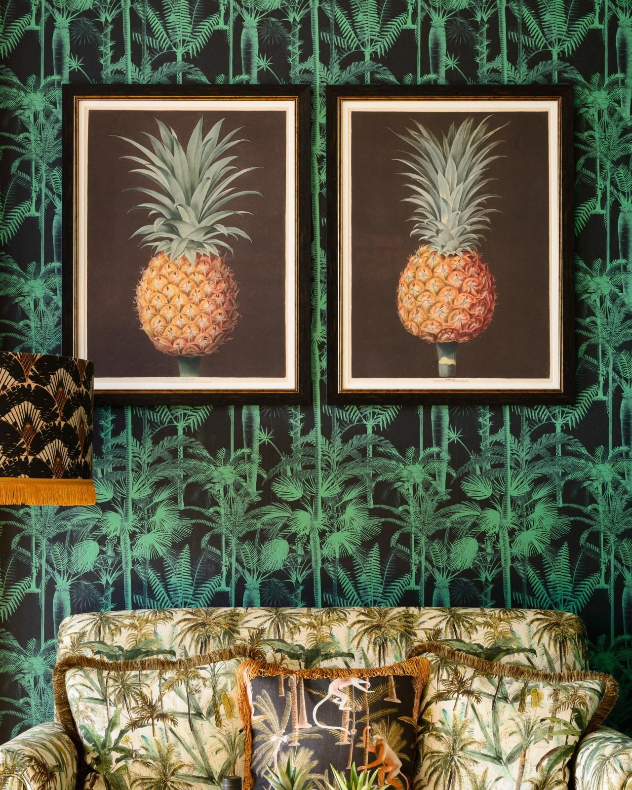 PINEAPPLES OF ANTIGUA - THE HAVANNAH PINE BY BROOKSHAW Framed Art