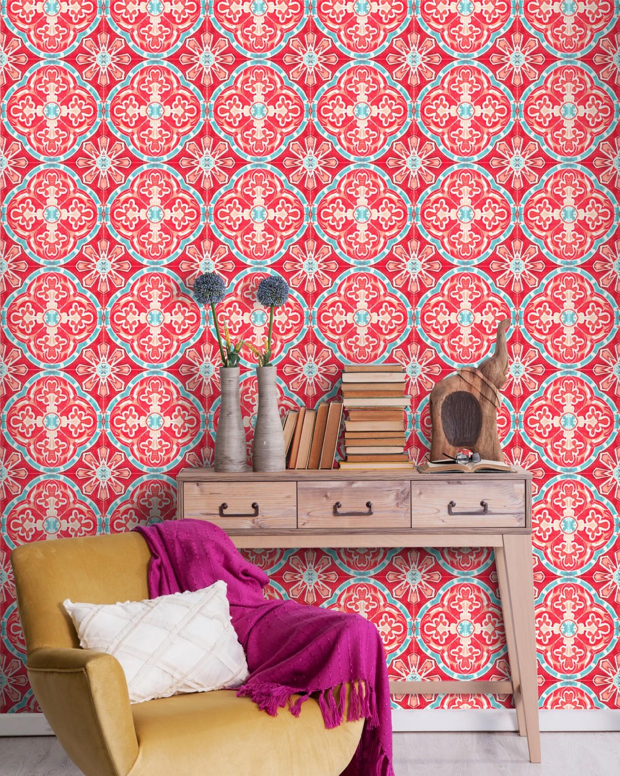 RUFOUS TILE Premium Wallpaper