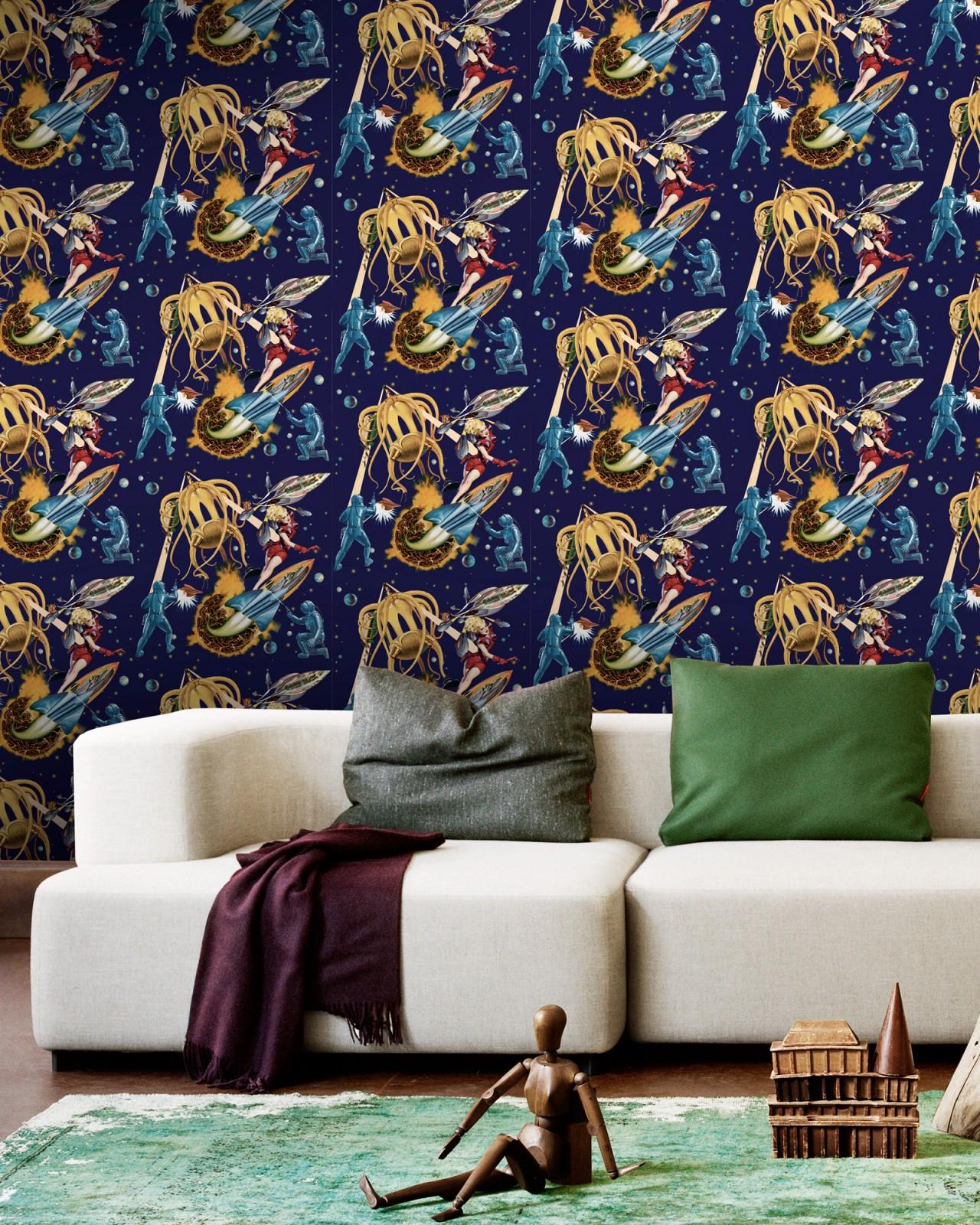 SCI-FI PULP Premium Wallpaper