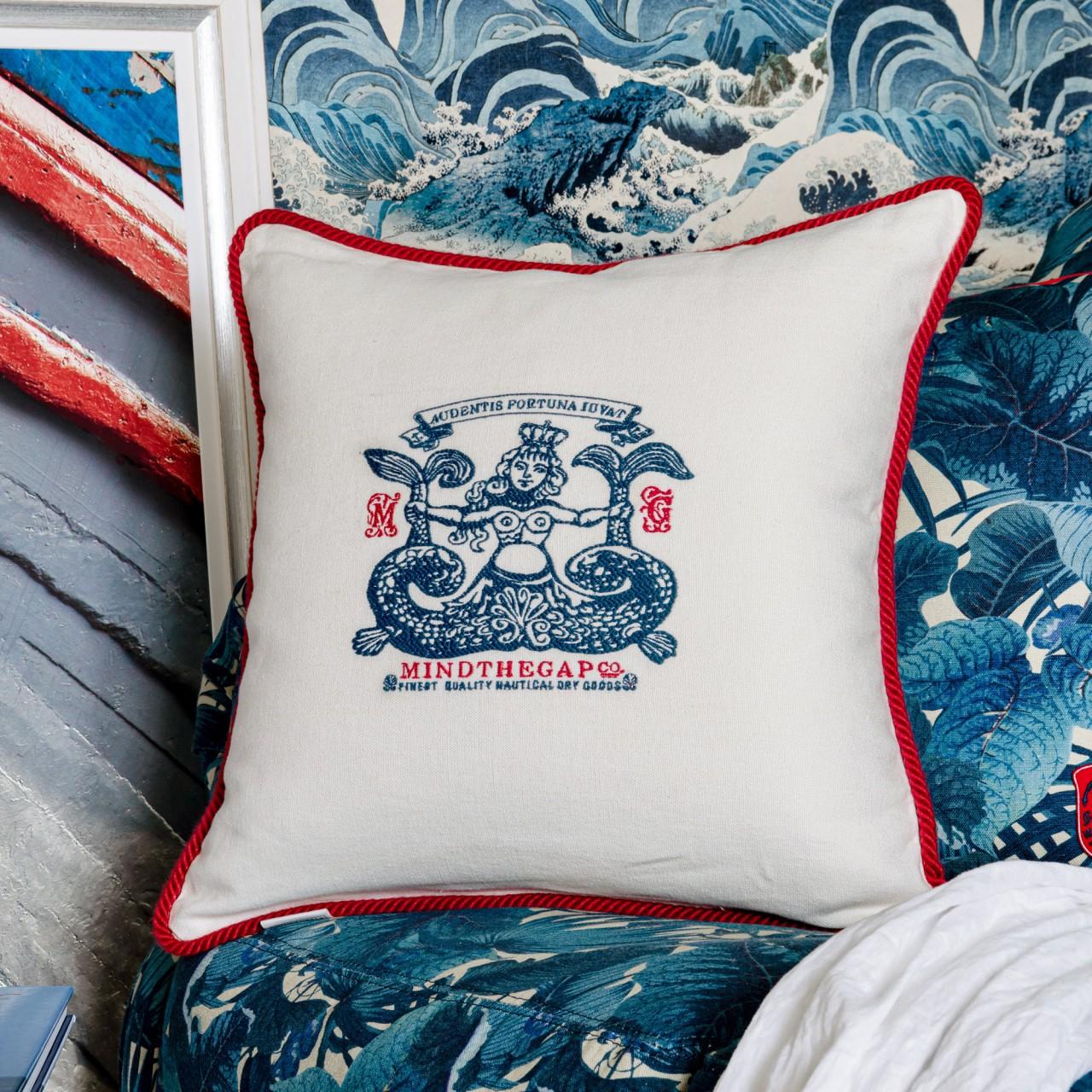 SIREN Linen Embroidered Cushion