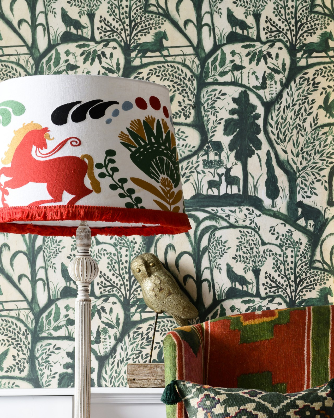 THE ENCHANTED WOODLAND Green Wallpaper