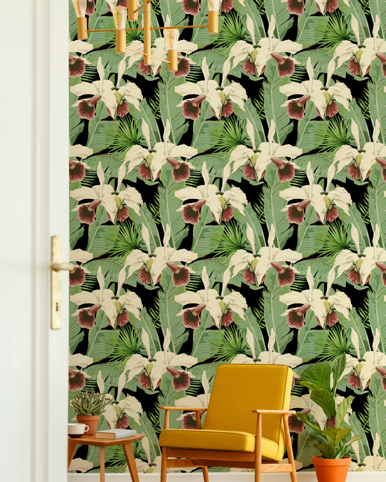 TREASURE ISLAND Anthracite Wallpaper